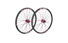 Spank Spike Race28 EVO wheelset 20mm + 12/135mm red